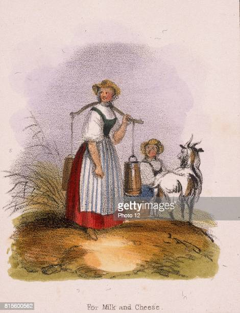 The goat keeper From 'Graphic Illustrations of Animals and Their Utility to Man' c1850