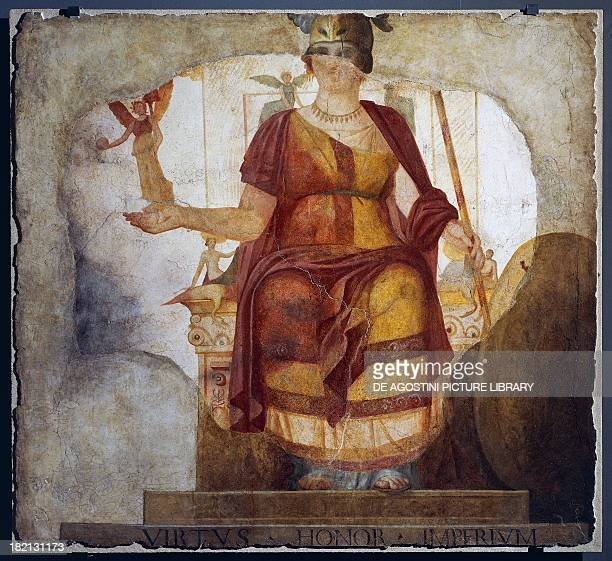 The Goddess Barberini painting integrated with oil in the 17th century 177x187 cm found in Rome Italy Roman Civilisation first quarter of the 4th...