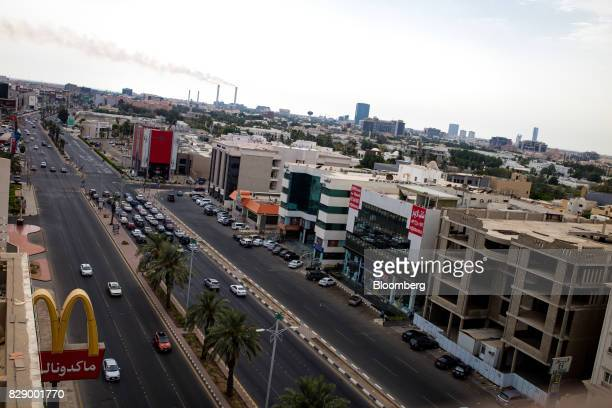 The 'Golden Arches' logo of McDonald's Corp sits outside a fast food restaurant on a highway in Jeddah Saudi Arabia on Sunday Aug 6 2017 After...