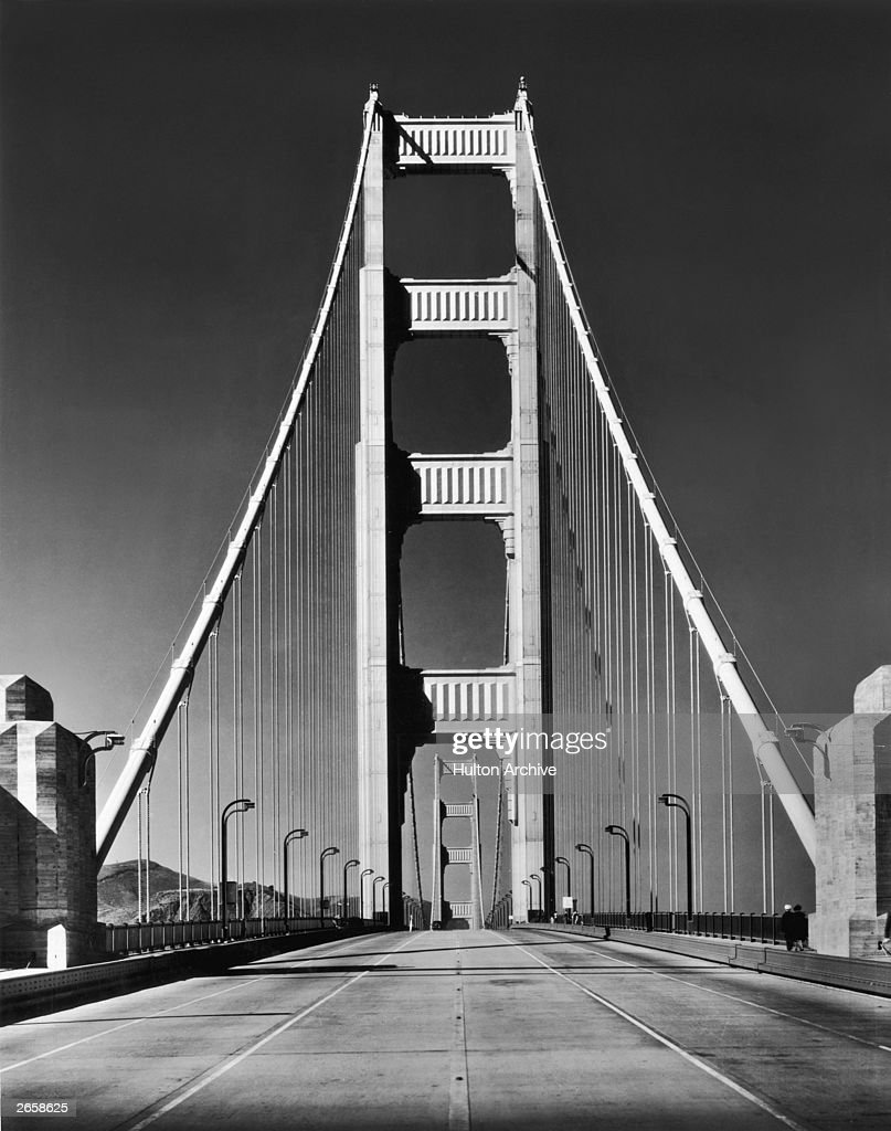 The Golden Gate Bridge in San Francisco, California, completed in 1937.
