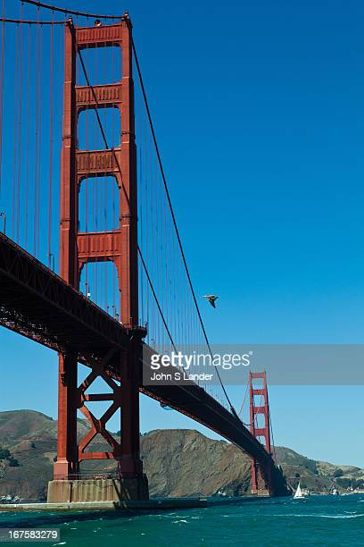 The Golden Gate Bridge is a suspension bridge spanning the Golden Gate the opening of San Francisco Bay into the Pacific Ocean As part of US Route...