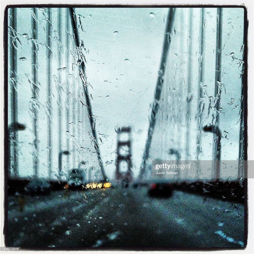 The Golden Gate Bridge is seen through the windshield of a car on April 26, 2012 in San Francisco, California. The Golden Gate Bridge, Highway and Transportation District is preparing for the 75th anniversary of the iconic Golden Gate Bridge that will be marked with a festival on May 26 - 27 that will feature music, displays of bridge artifacts and art exhibits. The 1.7 mile steel suspension bridge, one of the modern Wonders of the World, opened to traffic on May 27, 1937.