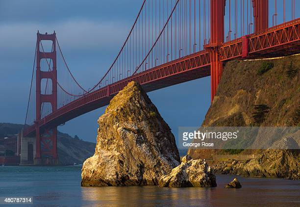 The Golden Gate Bridge is viewed from Cavallo Point at sunrise on June 23 in San Francisco California San Francisco continues to be a major global...
