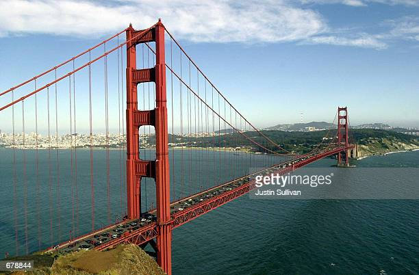 The Golden Gate Bridge spans the bay in San Francisco California California Governor Gray Davis has issued a statement November 1 2001 stating that...