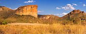 The Brandwag Buttress in the Golden Gate Highlands National Park, South Africa. Photographed in late afternoon sunlight.
