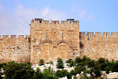 The Golden Gate or Gate of Mercy on the east-side of the Temple Mount of the Old City of Jerusalem, Israel