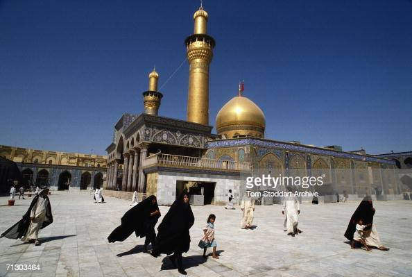 The golden mosque at the holy city of Kerballa Iraq
