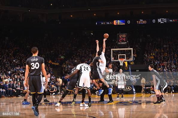 The Golden State Warriors and the Brooklyn Nets tip off on February 25 2017 at ORACLE Arena in Oakland California NOTE TO USER User expressly...