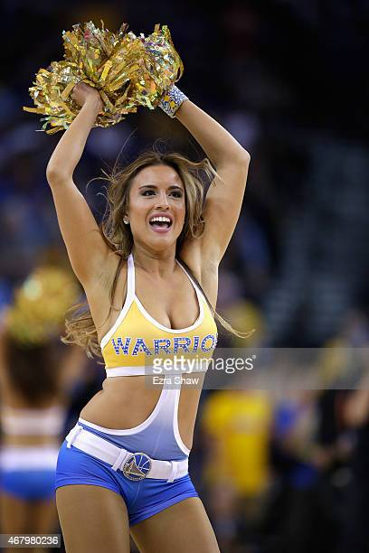 The Golden State Warriors dance team in action during their game against the Atlanta Hawks at ORACLE Arena on March 18 2015 in Oakland California...