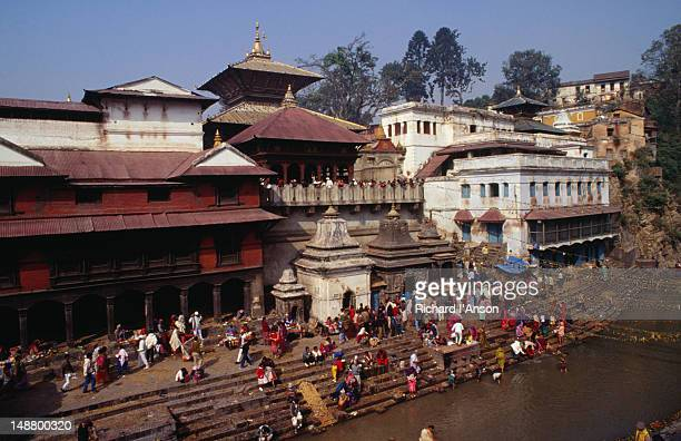 The Golden Temple and ghats of Pashupatinath, this city has the most important Hindu temple in Kathmandu although most of it is closed to foreigners, pilgrims come to the hospice here to die and be cremated by the river