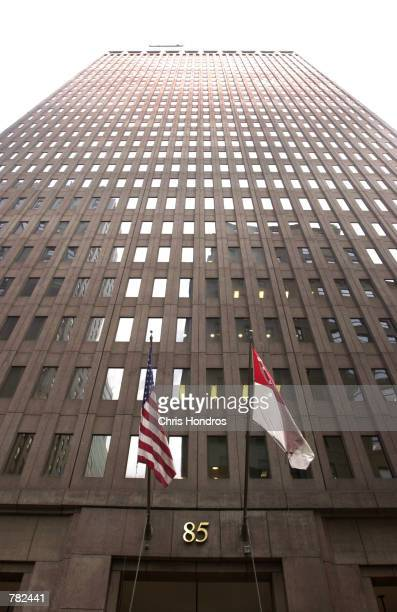 The Goldman Sachs building at 85 Broad Street is shown November 17 2000 in New York City Goldman Sachs keeps a low profile and doesn''t have a sign...