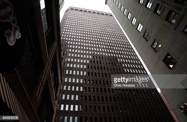 The Goldman Sachs headquarters building is seen December 16 2008 in New York The storied financial firm on December 16 posted its first loss since...