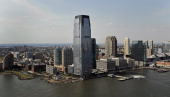 The Goldman Sachs Tower center stands in Jersey City New Jersey US on Monday Sept 17 2012 Goldman Sachs Tower located at 30 Hudson Street is the...