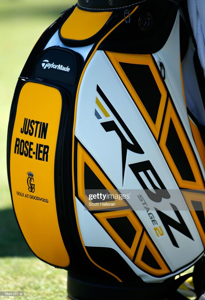 The golf bag of Justin Rose of England is seen during the second round of the World Golf Championships-Cadillac Championship at the Trump Doral Golf Resort & Spa on March 8, 2013 in Doral, Florida.