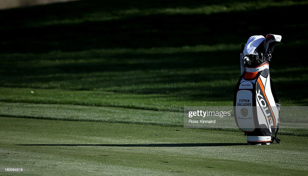 The golf bag of Stephen Gallacher of Scotland during the final round of the Omega Dubai Desert Classic on February 3, 2013 in Dubai, United Arab Emirates.