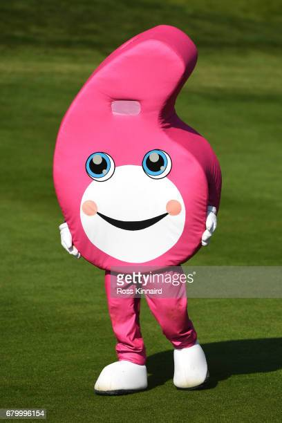 The GolfSixes mascot looks on during the final match between Denmark and Australia during day two of GolfSixes at The Centurion Club on May 7 2017 in...
