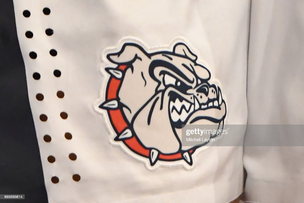 The Gonzaga Bulldogs logo on a pair of shorts during the Jimmy V Classic college basketball game against the Villanova Wildcats at Madison Square Garden on December 5, 2017 in New York City. The Wildcats won 88-72.