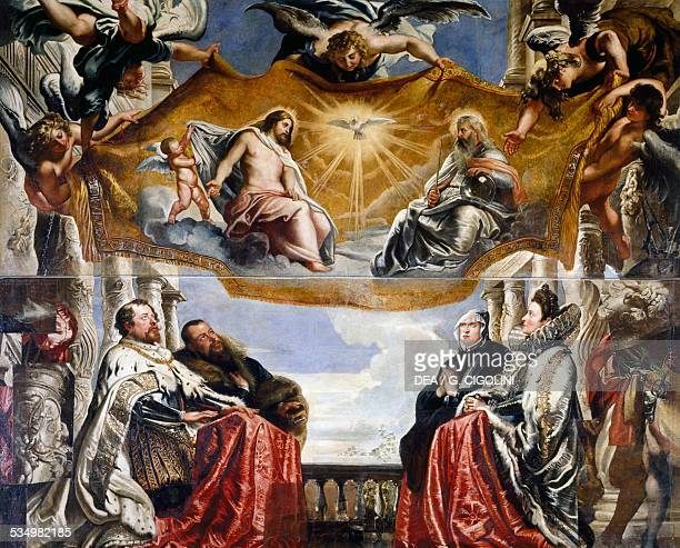 The Gonzaga Family in adoration of the Holy Trinity 16041605 by Peter Paul Rubens oil on canvas 381x477 cm Belgium 17th century Mantua Palazzo Ducale