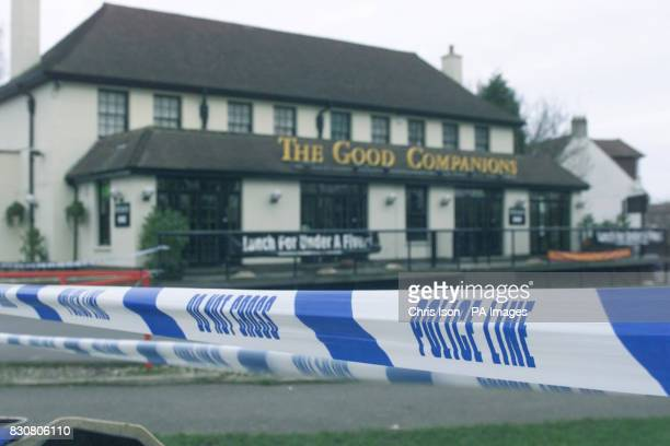 The Good Companions pub in Hamsey Green South Croydon Two men died after suffering gunshot wounds while a third man sustained stab wounds during a...