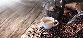 Morning Light Illuminates The Traditional Espresso