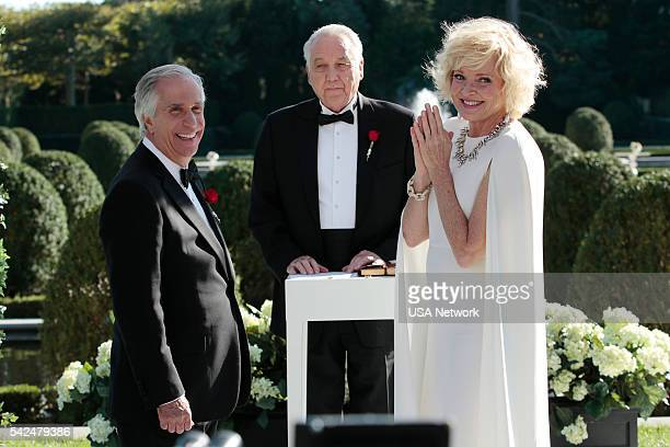 PAINS 'The Good News Is' Episode 807 Pictured Henry Winkler as Eddie R Lawson Bob Gunton as General Collins Christine Ebersole as Ms Newburg