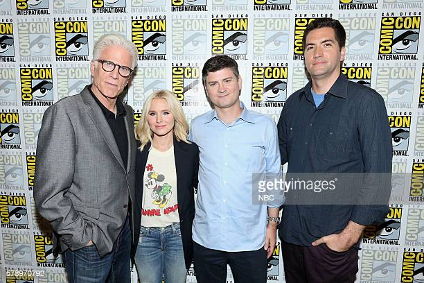 DIEGO 2016 'The Good Place' Press Room Pictured Ted Danson Kristen Bell Michael Schur Creator / Executive Producer Drew Goddard Executive Producer