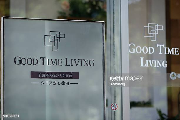 The Good Time Living nursing home operated by Orix Living Corp stands in Chiba Japan on Thursday Aug 13 2015 Prime Minister Shinzo Abe's government...