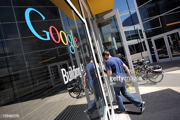 The Google logo is seen at the Google headquarters in Mountain View California on September 2 2011 AFP PHOTO/KIMIHIRO HOSHINO