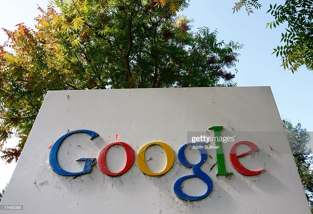 The Google logo is seen on display at the company's headquarters October 18 2007 in Mountain View California Google reported today that third quarter...