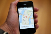 The Google Maps app is seen on an Apple iPhone 4S on December 13 2012 in Fairfax California Three months after Apple removed the popular Google Maps...