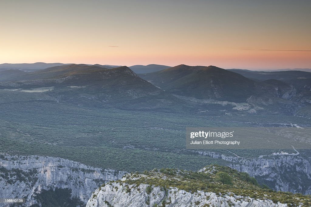 The gorges du Verdon in Provence. : Stock Photo