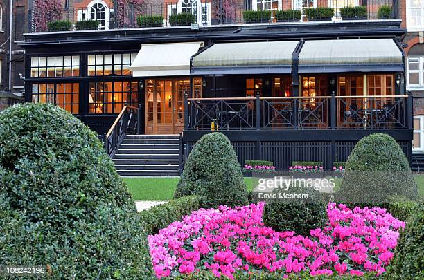 The Goring Hotel bar and gardens rumoured to be the hotel Kate Middleton her friends and family are due to stay the night before the wedding on...