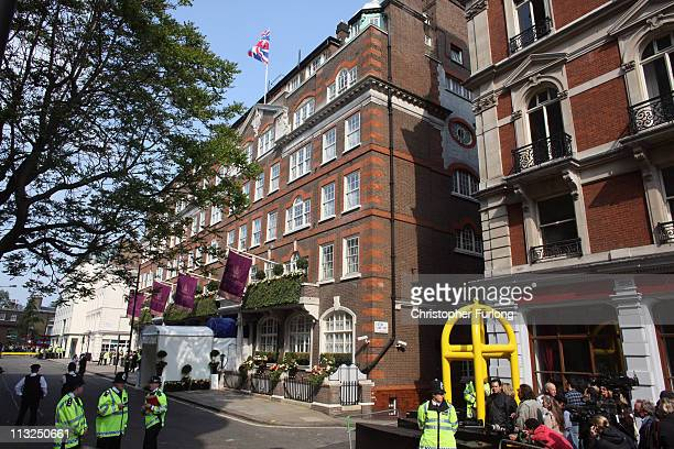The Goring Hotel where Catherine Middleton is spending her last night before her edding to Prince William on April 28 2011 in London England With...