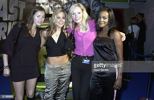 The Goss Girls and the Sugababes attend the party for UK Premiere of '2 Fast 2 Furious' at the Poland Street NCP Car Park on June 10 2003 in London