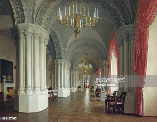 The Gothic Hall in the Winter Palace in Saint Petersburg 1840s Yushkov Fyodor Osipovich Found in the collection of the State Russian Museum St...