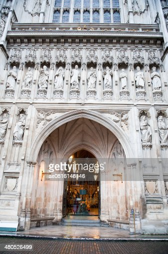 The gothic Westminster Abbey church in London, UK : Stockfoto