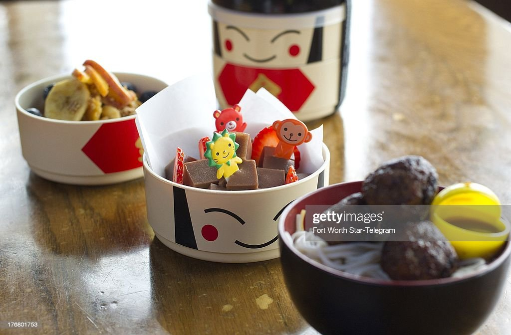 The go-to item for school lunches is the sandwich but varying lunch items can keep things fun for kids. A back-to-school alternative at Tokyo Cafe in Fort Worth, Texas, contains Japanese style meatballs, chocolate jello and sauteed peaches wth granola and berries.