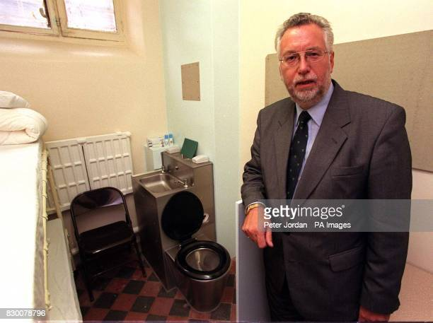 The Governer of Brixton Prison Mr John Towers in one the cells at the prison today Members of Britain's criminal justice system are this evening...