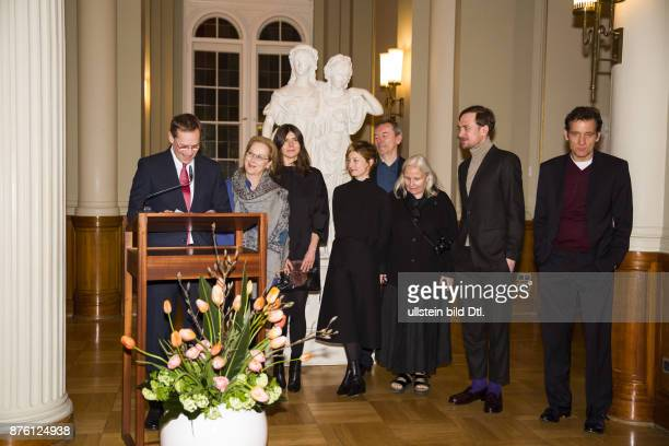 The Governing Mayor of Berlin Michael Mueller welcomes the International Jury of the Berlinale in the Red Town Hall After a welcoming address by the...