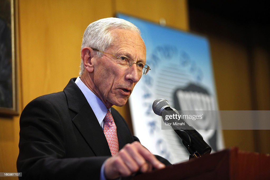 The Governor of the Central Bank of Israel, Stanley Fischer, gives a press conference on January 30, 2013 in Jerusalem, Israel. Stanley Fischer announced his resignation on Tuesday, 22 months short of his contract's natural end.