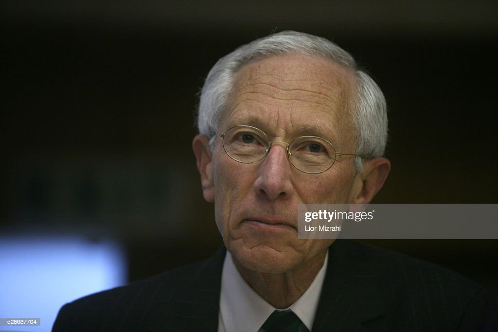 The Governor of the Central Bank of Israel, <a gi-track='captionPersonalityLinkClicked' href=/galleries/search?phrase=Stanley+Fischer&family=editorial&specificpeople=233518 ng-click='$event.stopPropagation()'>Stanley Fischer</a>, is seen during a conference on February 17, 2010 in Jerusalem, Israel.