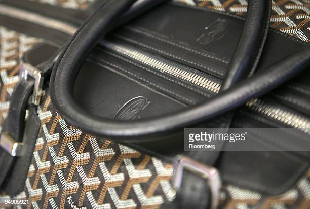 The Goyard boeing travel bag sits at fashion designer Ross Menuez's Salvor Projects Ltd studio in New York US on Friday Jan 18 2008 The man's bag is...