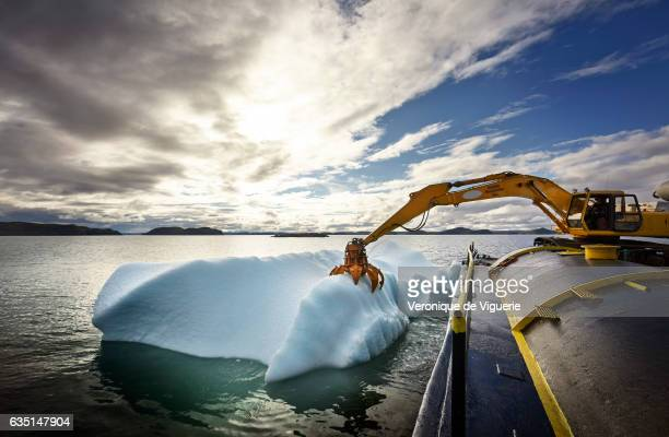 The grabber attacks the chosen iceberg As more icebergs drift south due to climate change a few enterprising seafarers have begun harvesting their...
