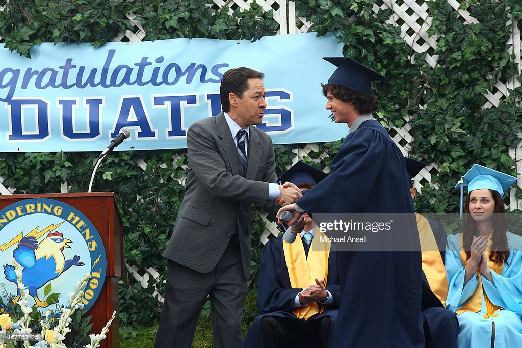 THE MIDDLE - 'The Graduation' - As graduation day approaches, tension begins to build between Frankie and Axl when he ignores her requests for answers about the graduation party she's planning for his special day. Meanwhile, Sue hopes that the sixth time's the charm as she once again attempts to pass her driver's test; and during his final days of elementary school, a forgetful Brick is reminded by Vice Principal Dunlap (Marion Ross) that he's the class historian and is responsible for putting together a slideshow highlighting the last four years of school for the school assembly, on the Season Finale of 'The Middle,' WEDNESDAY, MAY 22 (8:00-8:30 p.m., ET) on the ABC Television Network. MCDERMOTT