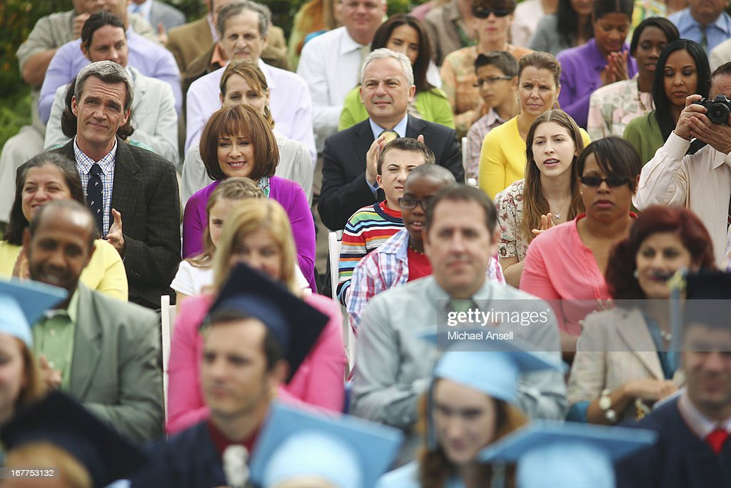 THE MIDDLE - 'The Graduation' - As graduation day approaches, tension begins to build between Frankie and Axl when he ignores her requests for answers about the graduation party she's planning for his special day. Meanwhile, Sue hopes that the sixth time's the charm as she once again attempts to pass her driver's test; and during his final days of elementary school, a forgetful Brick is reminded by Vice Principal Dunlap (Marion Ross) that he's the class historian and is responsible for putting together a slideshow highlighting the last four years of school for the school assembly, on the Season Finale of 'The Middle,' WEDNESDAY, MAY 22 (8:00-8:30 p.m., ET) on the ABC Television Network. SHER