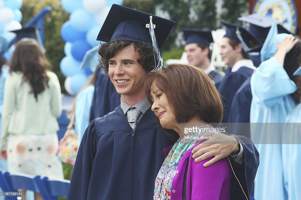 THE MIDDLE - 'The Graduation' - As graduation day approaches, tension begins to build between Frankie and Axl when he ignores her requests for answers about the graduation party she's planning for his special day. Meanwhile, Sue hopes that the sixth time's the charm as she once again attempts to pass her driver's test; and during his final days of elementary school, a forgetful Brick is reminded by Vice Principal Dunlap (Marion Ross) that he's the class historian and is responsible for putting together a slideshow highlighting the last four years of school for the school assembly, on the Season Finale of 'The Middle,' WEDNESDAY, MAY 22 (8:00-8:30 p.m., ET) on the ABC Television Network. HEATON