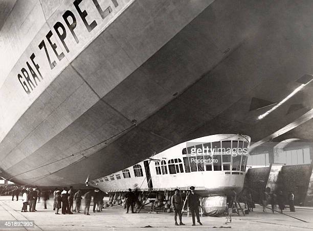 The Graf Zeppelin a Germanbuilt and operated passengercarrying hydrogenfilled rigid airship which was launched circa September 1928