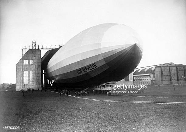 The Graf Zeppelin airship in Lakehurst in 1928 in the United States