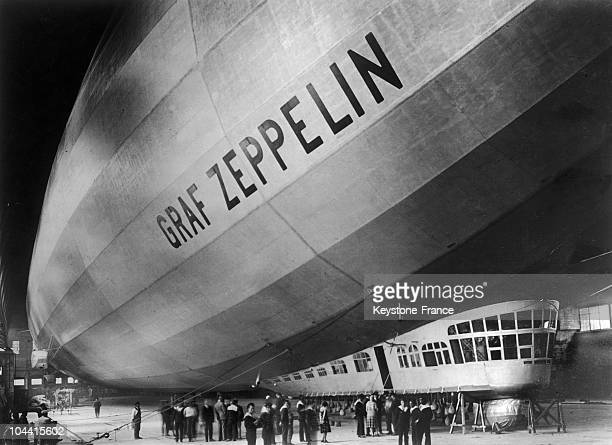 The GRAF ZEPPELIN success of the German aeronautical industry in its hangar probably upon the completion of its construction at the Friedrichshafen...