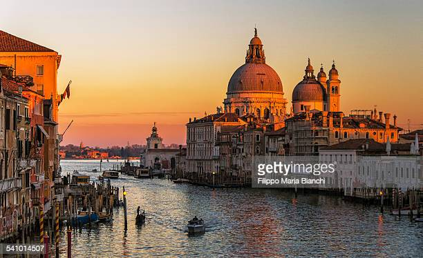 The Grand Canal at sunset
